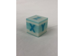 25mm Calibration Cube Two Color