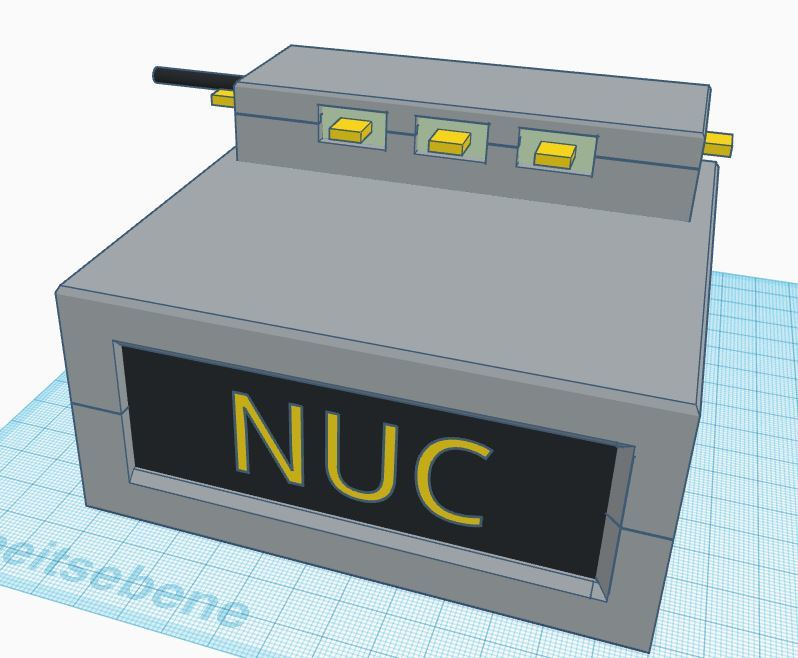 Enclosure for Intel NUC computer
