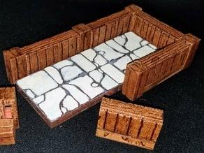 OpenLock Wood Plank Low Walls