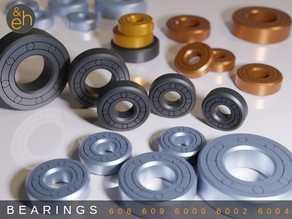 Bearings - Print-in-Place 5 Sizes: 608, 609, 6000, 6002, 6004