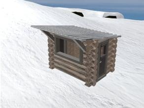 Ski Lift Cabin in 1:87 H0 scale