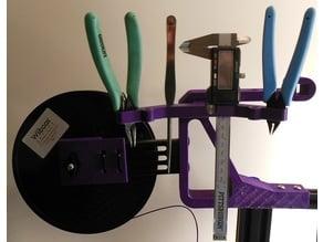 Ender 3 Cutter, Tweezer, Needle Nose Plyer and Digital Caliper Holder Adapter.