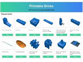 all LEGO® parts and compatible bricks - PrintableBricks
