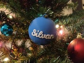 Christmas ball with customizable text