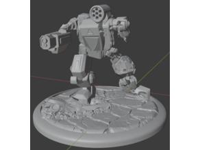 Summoner Thor MechWarrior Mech Robot Battle Damaged Battletech