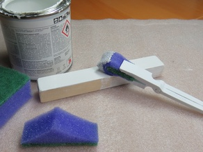DIY Brush from Kitchen Sponge