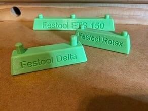 Sanding disk application guides for Festool sanders