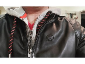 Star Trek logo on a leather jacket