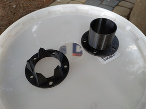 40mm PVC pipe connector for bucket cyclone separator