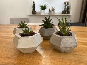Concrete mold for planter - plant pot