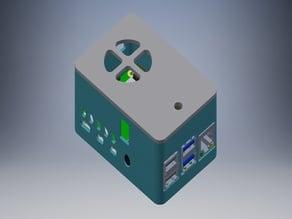 Pi4 DockerPi PowerBoard - Case
