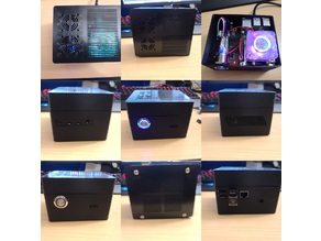 Raspberry Pi 4 + GeeekPi Raspberry Pi 4 Low-Profile CPU Cooler + X825 + SSD Housing