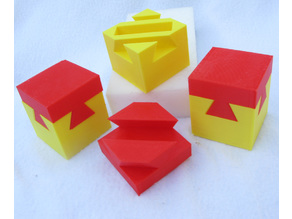 Container with a Puzzle Lid