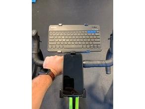 Keyboard Mount - fits to Wahoo bike CPU mount - Great for Zwifting