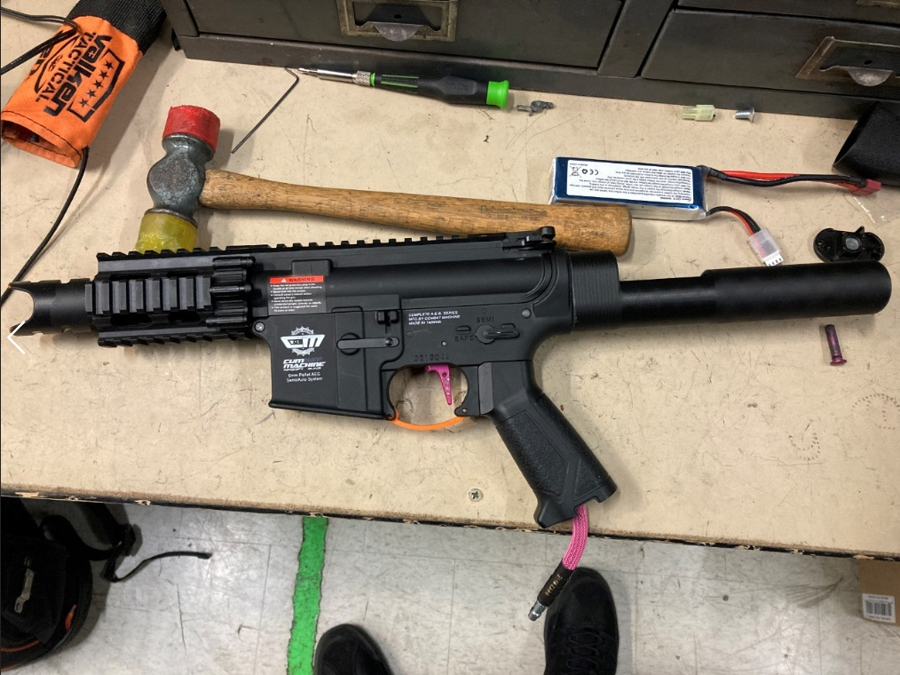 The Dropstick airsoft m4 hpa stock