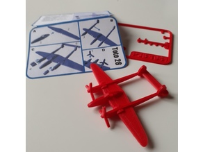 FAMOUS PLANES - P38 Lightning kit card