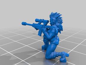 Cyberpunk - RockerGirl Sniper