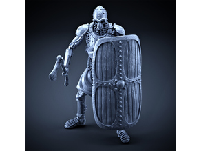 Skeleton - Heavy Infantry - Axe + Square Shield - Idle Pose
