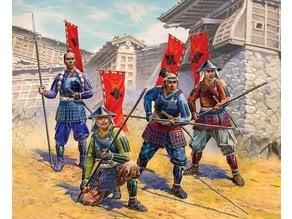 Ashigaru with Yari (Type 2, hats, x20)