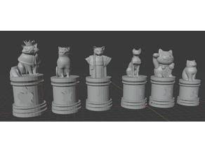 Cat Chess Set
