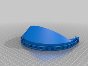 Face shield mask model 2 for smaller 3D printers