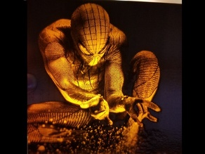 Spider Man Lithophane