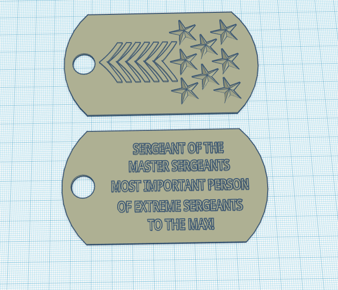 Sergeant to the max dog tag