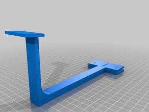 Web-Cam Halter mittig Aluplatte Anycubic i3 Mega