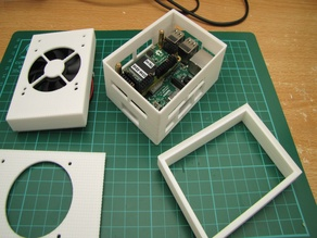 Raspberry Pi 3 modular case for DIY projects - various sizes - parametric source files included