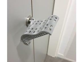Hands-free opener for door L-handle 19mm without screws (COVID19) #notouchchallenge