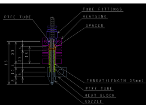CR10 TYPE HOTEND INNER SPACER