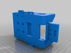 Railcore II Y carriage for Dual extrusion with water cooling and exoslide compatible