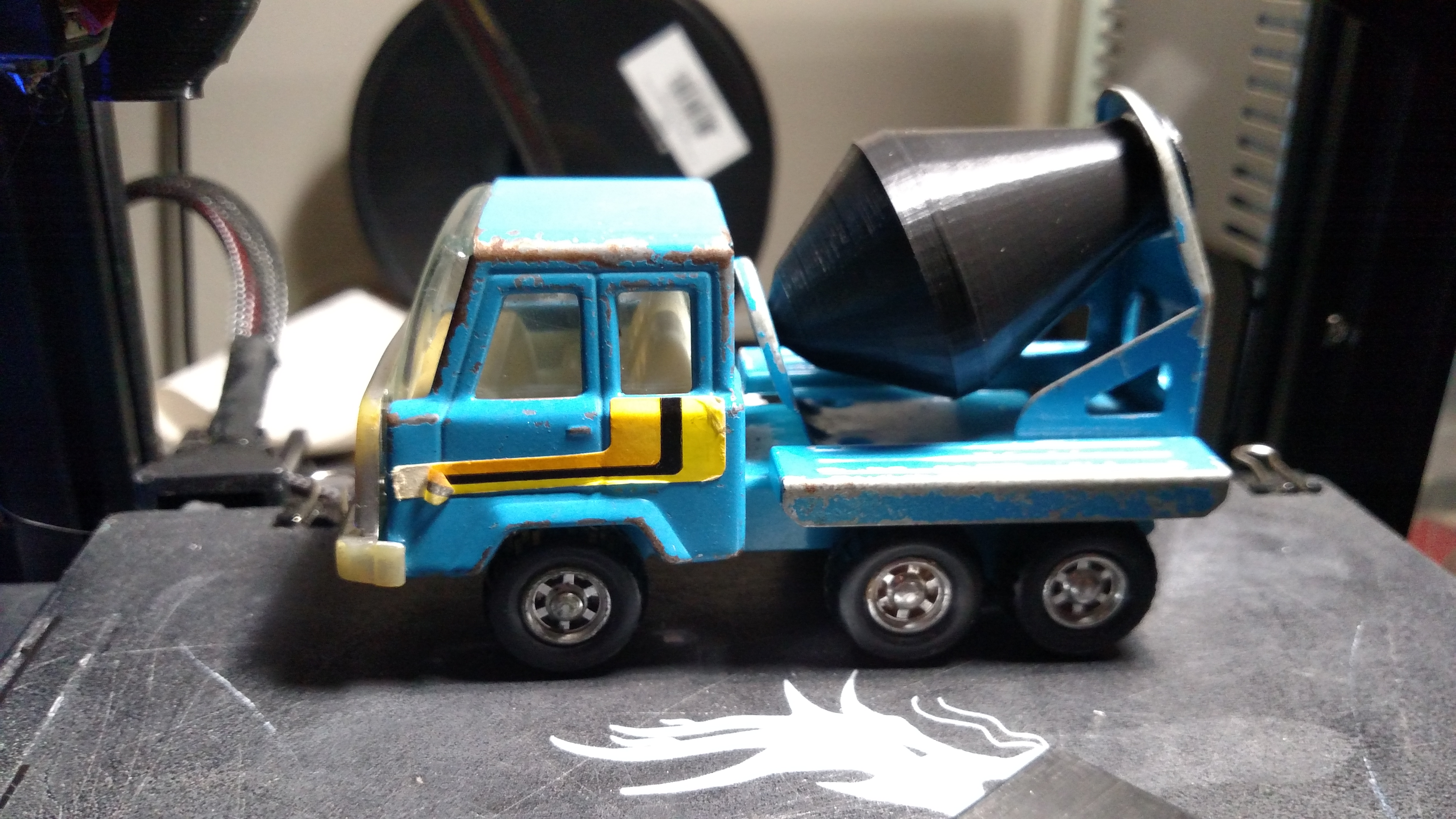 Replacement Toy Cement Truck Drum (KY Steel Roder Cement Mixer 3327)