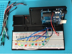 Arduino Uno/Mega/Nano breadboard holder (Remix)