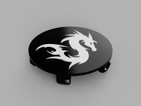 Wheel Center Cap diameter 68mm Dragon01 Bicolor for BMW vehicle