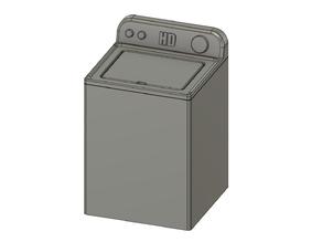 Scale Washing Machine - It SPINS!