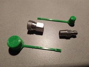 Dust Caps for High Pressure Quick Disconnect (QD) Adaptors