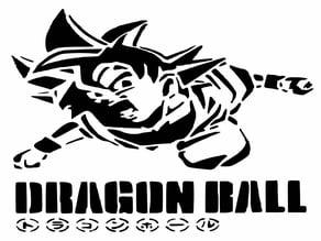 Goku stencil 4