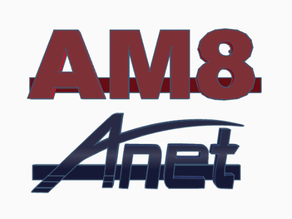 Anet AM8 logo for 2040 extrusion