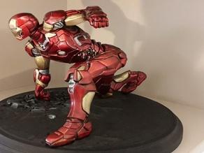 Ironman MK42 Superhero Landing Position with lights