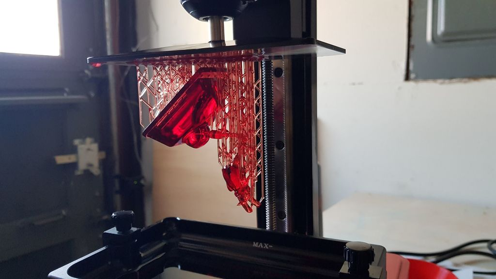 Pre-Supported Red Dwarf Scutter for Resin Printers