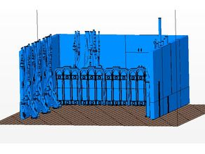 adeptus mechanicus display board diorama - terrain