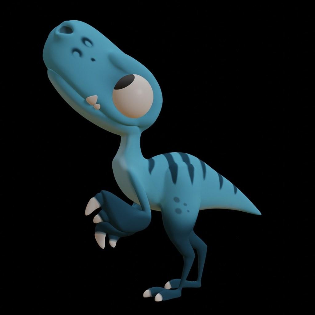 Cute Raptor Figure