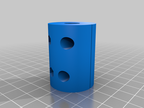 My Customized Parametric 6 to 10 Z-axis coupler (stepper and threaded rod coupling)