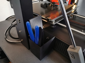 Anycubic i3 Mega / i3 Mega S Filament Waste Box and Tool Holder (Voltage Switch Cover)