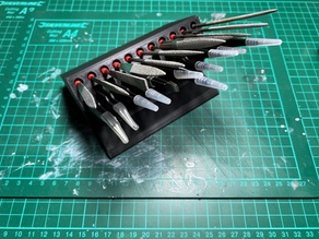 Precision Files & Tweezers Holder