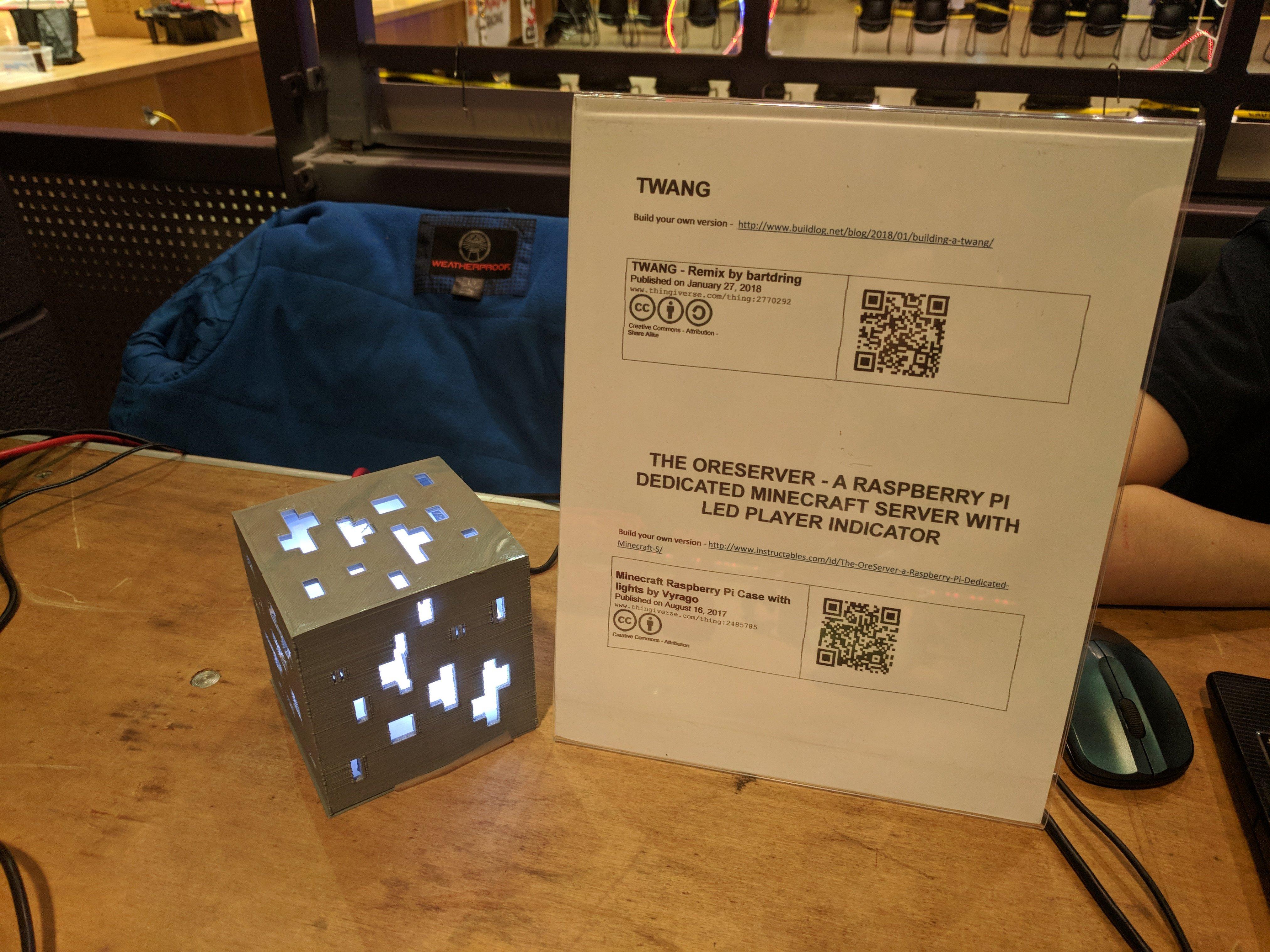 minecraft raspberry pi case with lights by cyberhikerdd rh thingiverse com