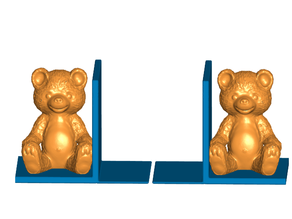Teddy Bear Bookends (Left and Right)