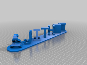 AAMy Customized Dual Letter Blocks Illusion