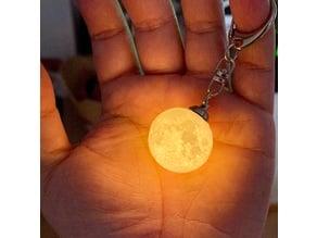 NASA CGI Moon Kit 2019 Moon Lamp 1 inches keyring